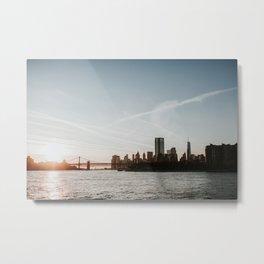 Skyline New York | Colourful Travel Photography | New York City, America (USA) Metal Print