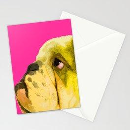 Pop art English bulldog portrait Stationery Cards