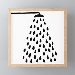 Shower in bathroom Framed Mini Art Print