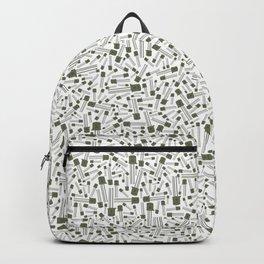 Green metallic transistor, PATTERN Backpack