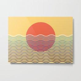 Horizon#2 modern minimalistic boho art Metal Print