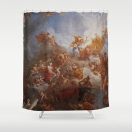 The Apotheosis of Hercules by Francois Le Moyne. Shower Curtain