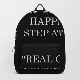 real change enduring change happens one step at a time Backpack
