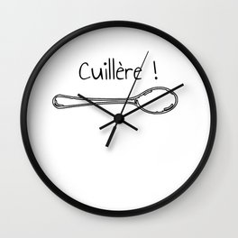 arthour cuillère ! t-shirt humour kaamelot Wall Clock