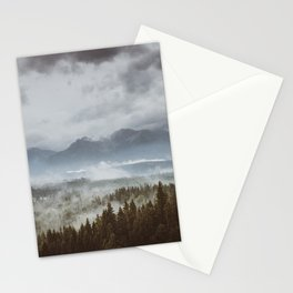 Misty mountains - Landscape and Nature Photography Stationery Cards
