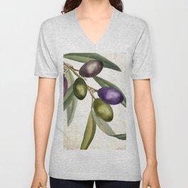 Olive Branch I Unisex V-Neck