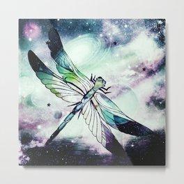 space dragonfly Metal Print