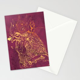 El Briguento - The Fighter (Golden) Stationery Cards