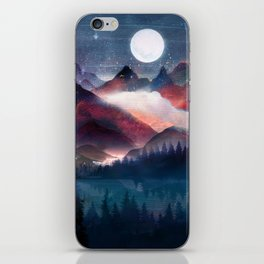 Mountain Lake Under the Stars iPhone Skin