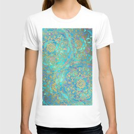 Sapphire & Jade Stained Glass Mandalas T-shirt