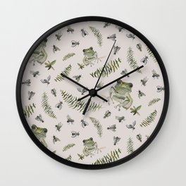 F is for... Frogs, Flies and Ferns Wall Clock
