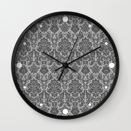 Black & Gray Vintage Decorative Pattern Wall Clock