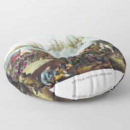 Andrew Jackson -- Battle Of New Orleans Floor Pillow