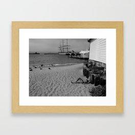 Sun bather Framed Art Print