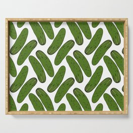 Pickles Green Cucumbers Serving Tray
