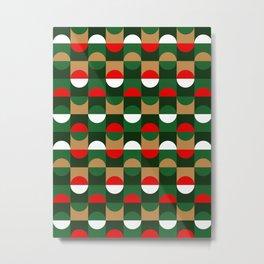 Christmas Geo // small print Metal Print