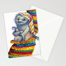 Sloth in a Sock Stationery Cards