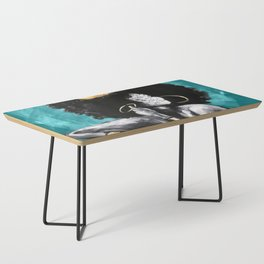 Naturally Queen VI  TEAL Coffee Table