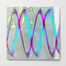 WaveinMyQuantumWindow2 Metal Print