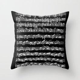 Bach Chaconne Solo Partita Violin Throw Pillow