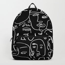 Faces on Black Backpack