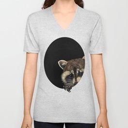 Socially Anxious Raccoon Unisex V-Neck