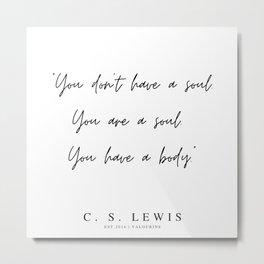 61      200320    C.S Lewis Quotes Metal Print