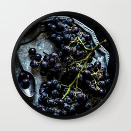 Black Grapes Wall Clock