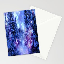 Mystical Snow Winter Forest Stationery Cards
