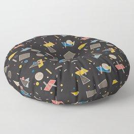 Memphis Inspired Pattern 10 Floor Pillow