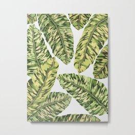 Tropical Leaves Metal Print