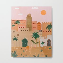 Marrakech kasbah abstract Art Morocco Metal Print