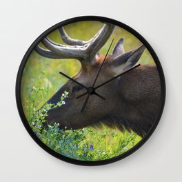 Elk like flowers too Wall Clock