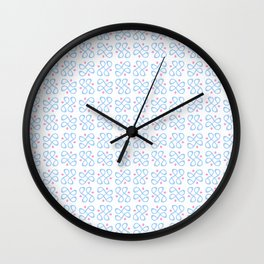 Symmetric patterns 197 blue and pink Wall Clock