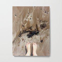Sandy Toe Love Metal Print