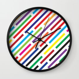 Rainbow Rain Wall Clock