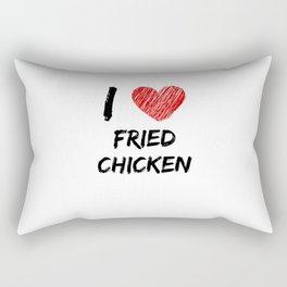 I Love Fried Chicken Rectangular Pillow