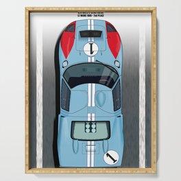 Ken Miles, Denis Hulme GT40, Le Mans 2nd 1966 Serving Tray