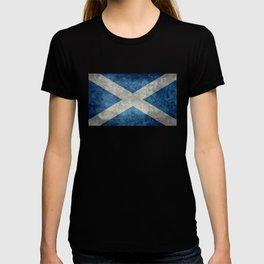 Scottish Flag - Vintage Retro Style T-shirt