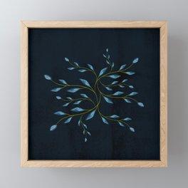 Blue foliage Framed Mini Art Print
