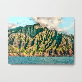 2016 Na' Pali Coast, Kauai, Hawaii Metal Print