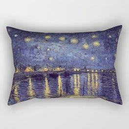 Vincent Van Gogh Starry Night Over The Rhone Rectangular Pillow