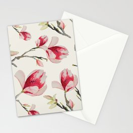 Magnolia Flower Pattern Stationery Cards