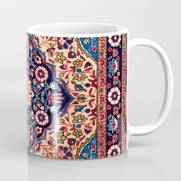 Kashan Central Persian Rug Print Coffee Mug