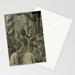 Vintage Illustration - A Church History (1906) - Archbishop and Choir Boys Stationery Cards