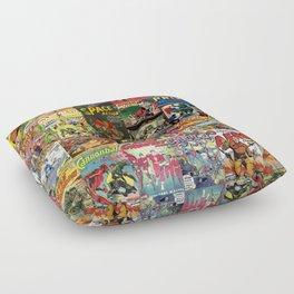 Comic Book Collage II Floor Pillow
