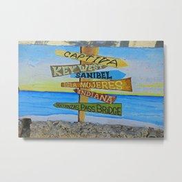 Fort Myers Beach Mural Metal Print