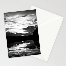 Sundown At Lake Heve 7 bw Stationery Cards