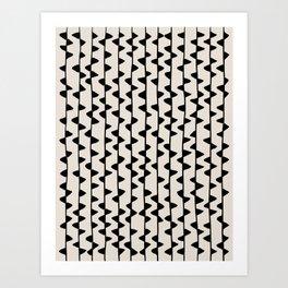Triangles / Black & White Pattern Art Print