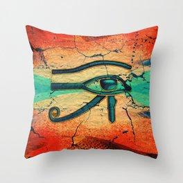Egyptian Eye of Horus - Ra Throw Pillow